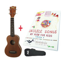 UKESTAR-TER PACK - Mojo Uke + Book + Gig Bag (SAVE $25)