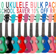 10 pack poster Colour burst ukulele
