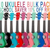 10 UKULELE SCHOOL PACK - SANCHEZ- SAVE 10% off RRP