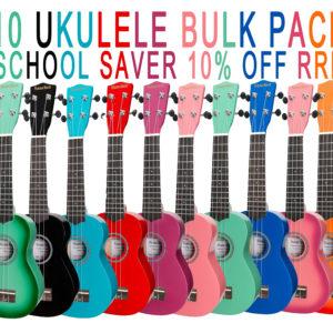 10 pack poster Colour burst ukulele