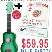 UKESTARter Xmas Pack Ukulele + Book + Case